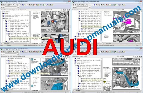 Elsawin Audi workshop service repair manual