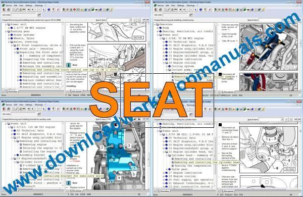 elsawin vw  seat  audi  skoda workshop manuals