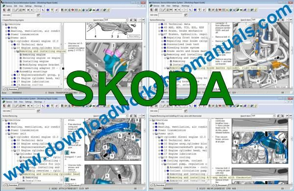 Elsawin Skoda workshop service repair manual