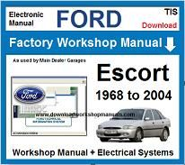 Ford Escort Service Repair Workshop Manual