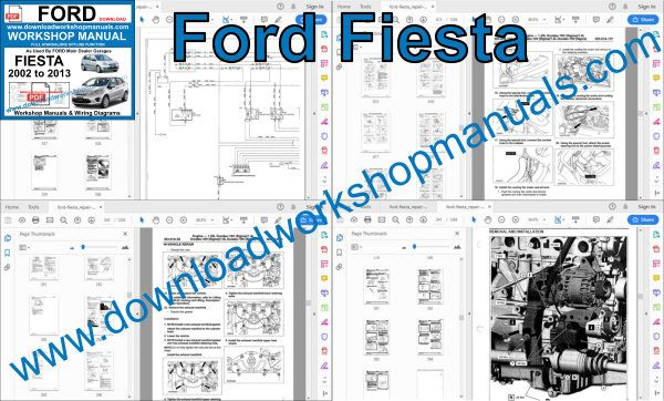 Ford Fiesta 2002 to 2013 workshop manual