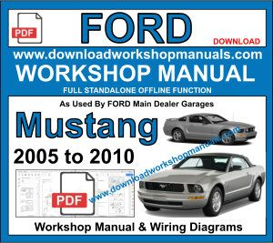 Ford Mustang Workshop Service Repair Manual