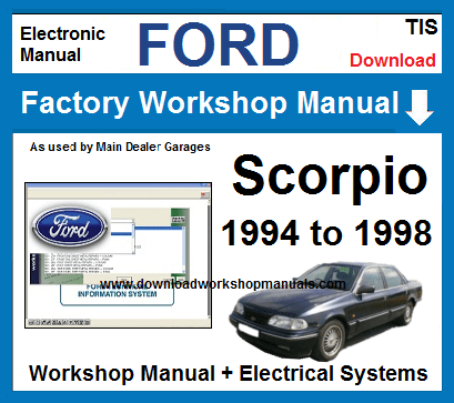 Ford Scorpio Workshop Repair Manual