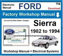 Ford Sierra Service Repair Workshop Manual