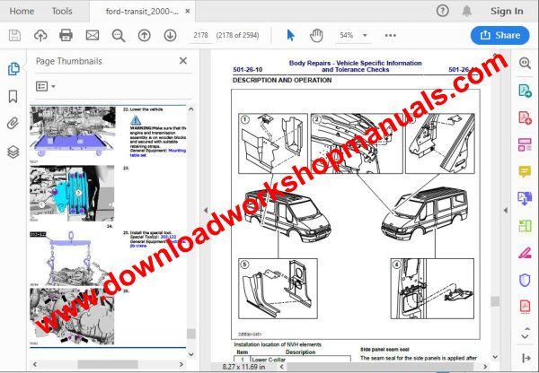 ford transit repair manual download pdf