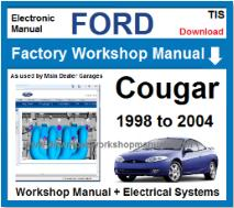 Ford Cougar Service Repair Workshop Manual
