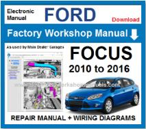 Ford Focus Service Repair Workshop Manual