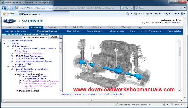 Ford Focus Workshop Repair Manual