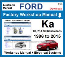 Ford Ka Service Repair Workshop Manual