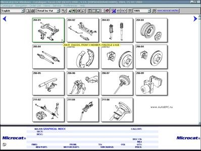 Ford electronic parts catalogue