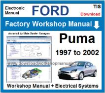 Ford puma Service Repair Workshop Manual