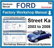Ford Streetka Service Repair Workshop Manual