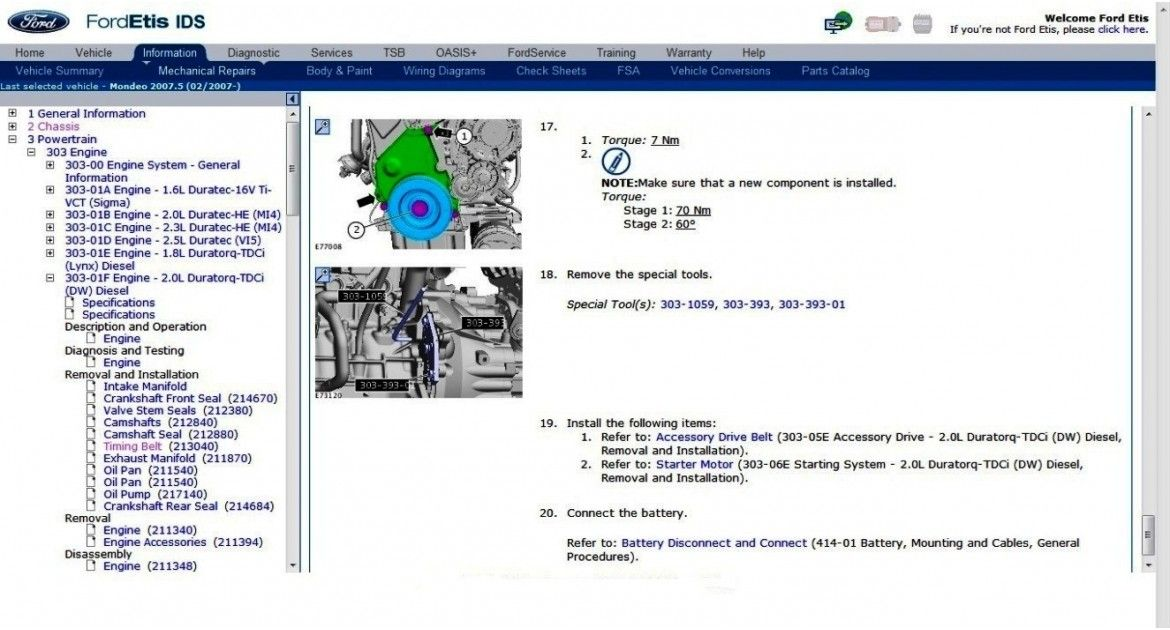 Ford TIS Serice Manual Download