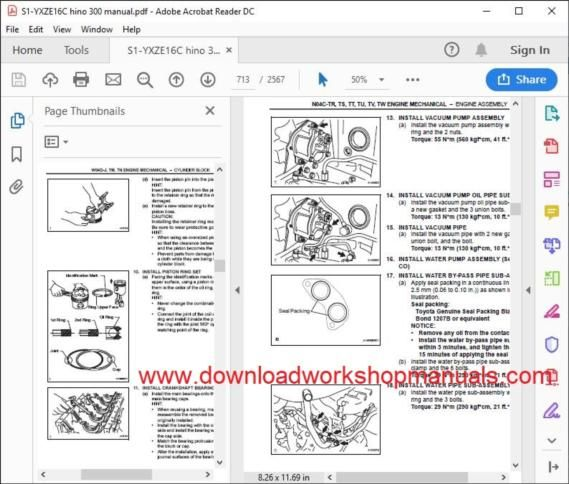 HINO 300 series 2nd generation repair manual