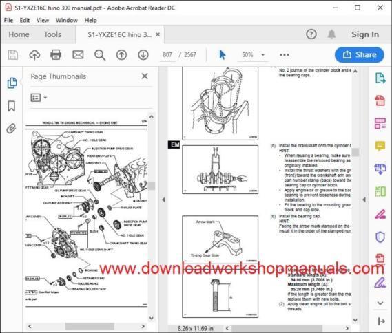 Hino Workshop Manuals