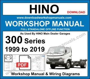 Hino 300 series workshop repair manual
