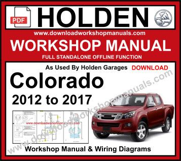 holden Colorado service repair workshop manual pdf
