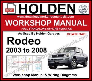 Holden Rodeo Workshop Service Repair Manual pdf