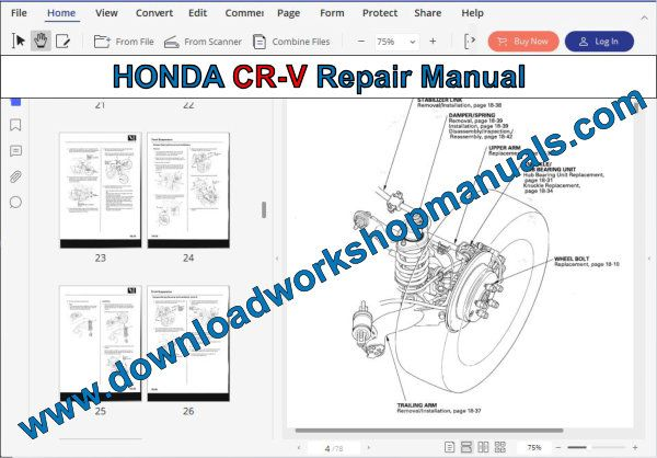 HONDA CR-V Repair Manual
