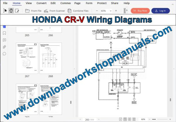 HONDA CR-V Wiring Diagrams