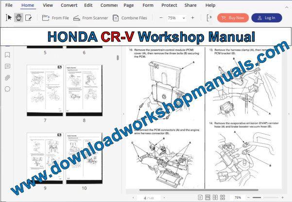 HONDA CR-V Workshop Manual