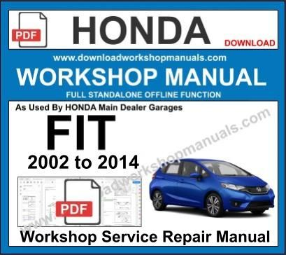 Honda Fit Workshop Service Repair Manual