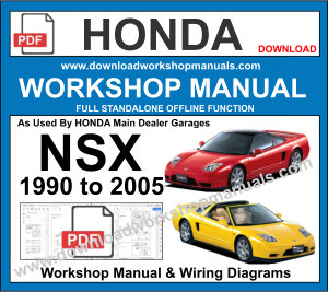 Honda nsx Workshop Manual pdf