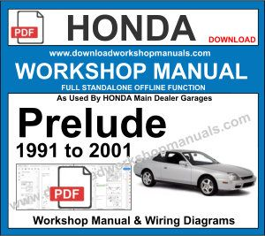 Honda Prelude Workshop Service Repair Manual PDF