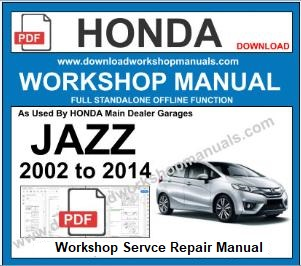 Honda Jazz Workshop Manual Download pdf