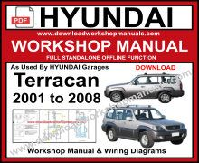 Hyundai Terracan Service Repair Manual