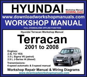 Hyundai Terracan Workshop Service Repair Manual