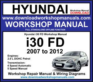 Hyundai i30 2007-2012 Workshop Service Repair Manual
