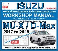 isuzu d max mu-x service repair workshop manual
