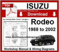 isuzu rodeo service repair workshop manual download