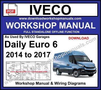 iveco euro 6 service repair workshop manual