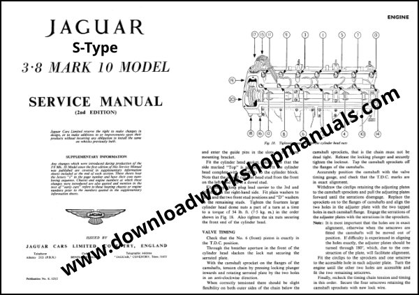 Jaguar S Type 3 8 MK 10 Service Manual