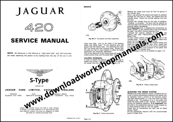 Jaguar S Type 420 Service manual