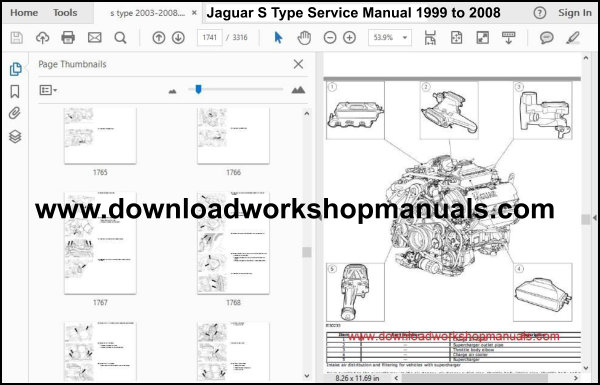 Jaguar S Type Service Manual 1999 to 2008