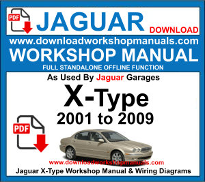 JAGUAR X-Type workshop service repair manual