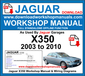 Jaguar X350 Workshop Service Repair Manual pdf