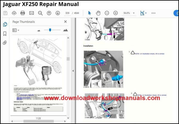 Jaguar XF250 Repair Manual PDF