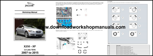 Jaguar XF XFR TDV6 Repair Manual