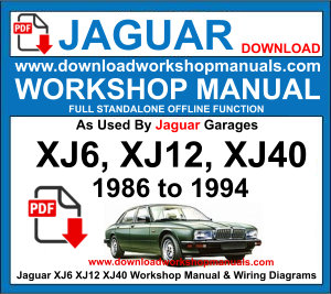 JAGUAR XJ6 XJ12 XJ40 workshop repair manual