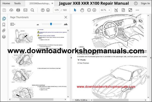 Jaguar Xk8  Xkr  X100 Workshop Manual Download