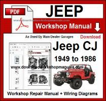 Jeep CJ Workshop Manual Download