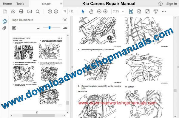 Kia Carens repair Manual