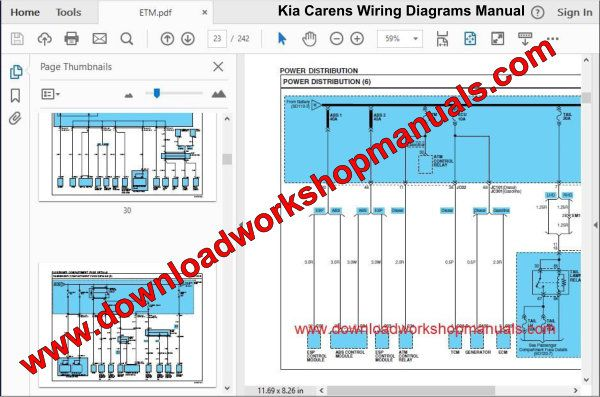 Kia Carens Wiring Diagrams