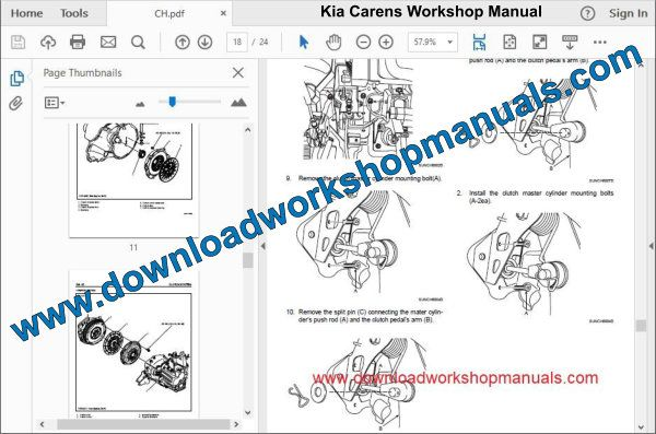 Kia Carens Workshop Manual
