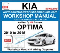 Kia Optima Service Repair Workshop Manual Download