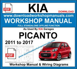 Kia Picanto repair workshop manual 2011 to 2017